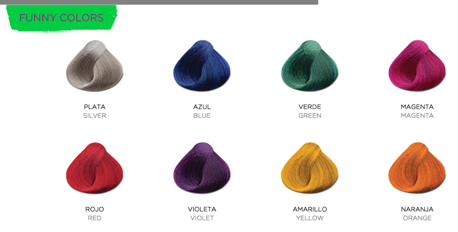 Tintes kull letve - Gama de colores morados ...