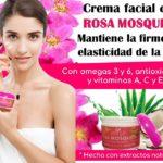 Crema facial con rosa mosqueta Natza