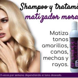 Shampoo + tratamiento acondicionador Morado Natza