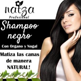 Shampoo negro Organo y Nogal Natza