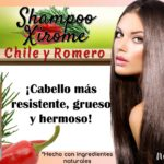 Shampoo Xirome Chile y Romero Natza