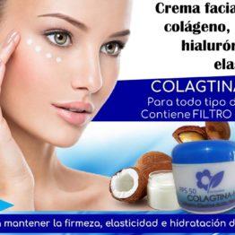 Crema facial con colágeno, ácido hialurónico y elastina Natza
